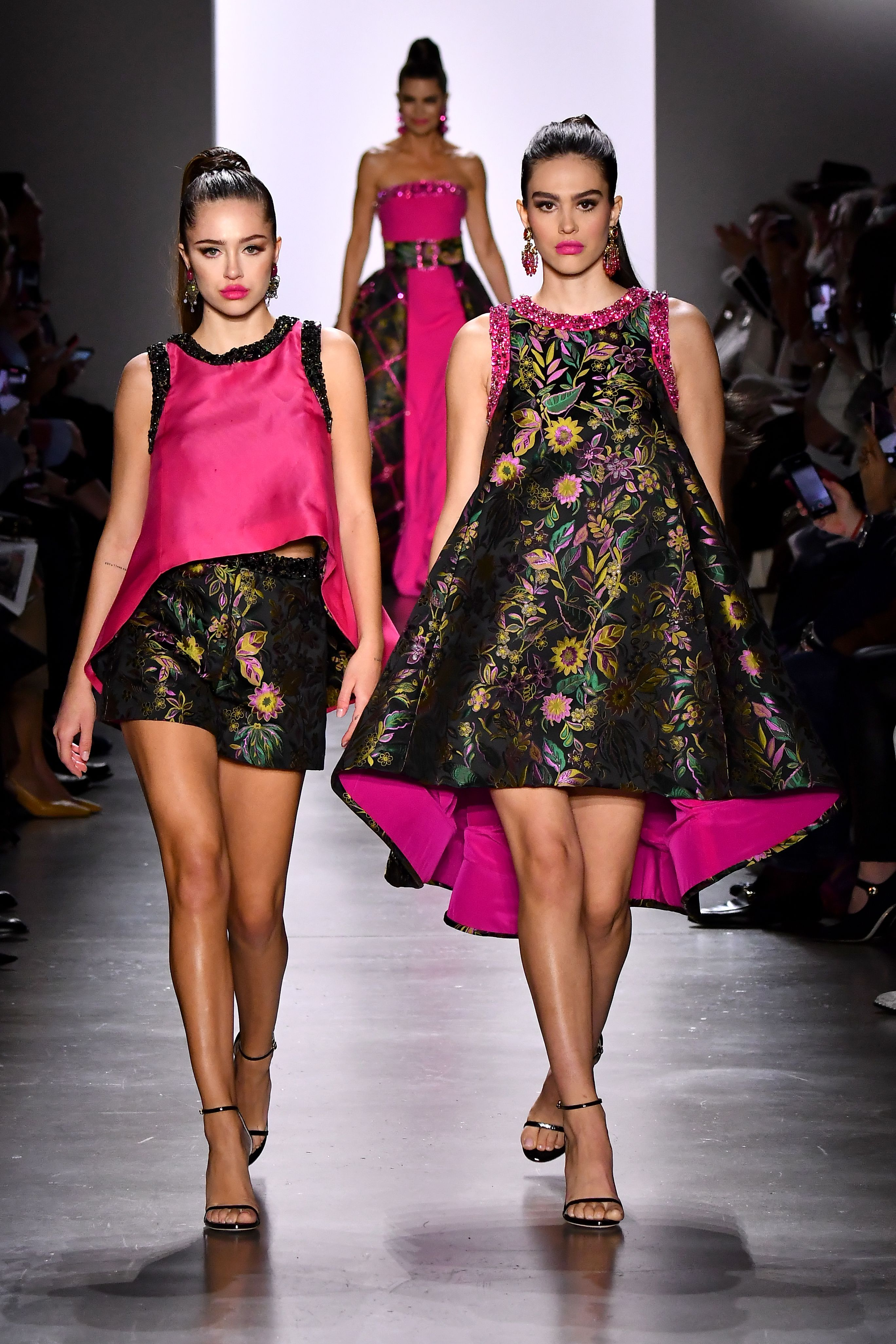 Delilah Hamlin and Amelia Gray Hamlin on the catwalkDennis Basso show, Runway, Fall Winter 2020, New York Fashion Week, USA - 09 Feb 2020