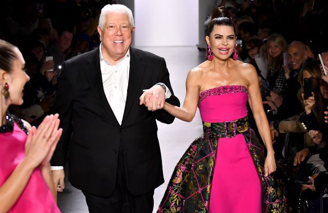 Dennis Basso and Lisa Rinna on the catwalkDennis Basso show, Runway, Fall Winter 2020, New York Fashion Week, USA - 09 Feb 2020