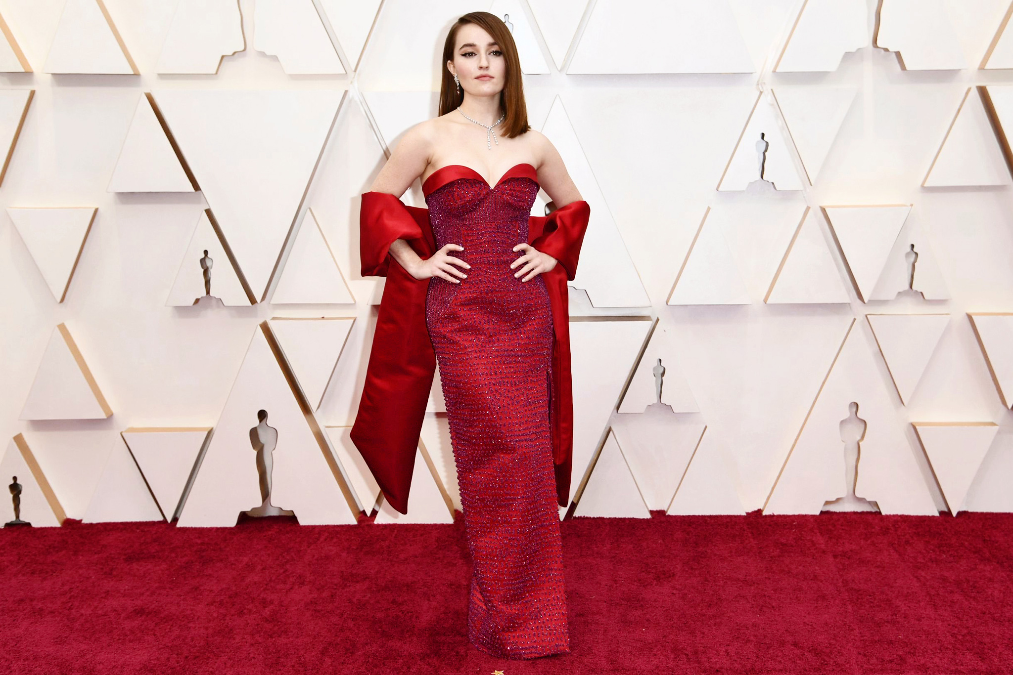 Kaitlyn Dever arrives at the Oscars, at the Dolby Theatre in Los Angeles92nd Academy Awards - Arrivals, Los Angeles, USA - 09 Feb 2020