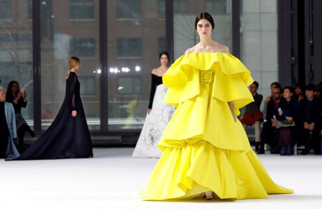 The Carolina Herrera collection is modeled