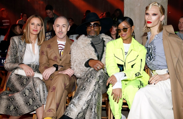 Dee Ocleppo, Alan Cumming, Billy Porter, H.E.R and Miss Fame in the front rowTommy Hilfiger show, Front Row, Fall Winter 2020, London Fashion Week, UK - 16 Feb 2020