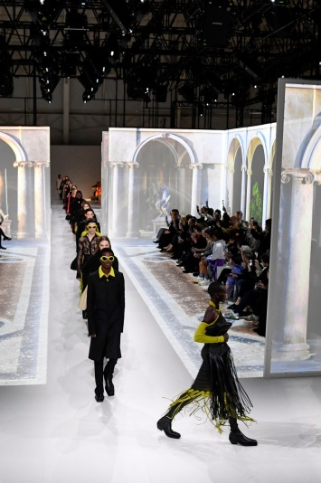 Models on the catwalkBottega Veneta show, Runway, Fall Winter 2020, Milan Fashion Week, Italy - 22 Feb 2020