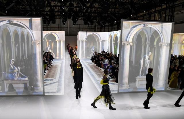 Models on the catwalkBottega Veneta show, Runway, Fall Winter 2020, Milan Fashion Week, Italy - 22 Feb 2020