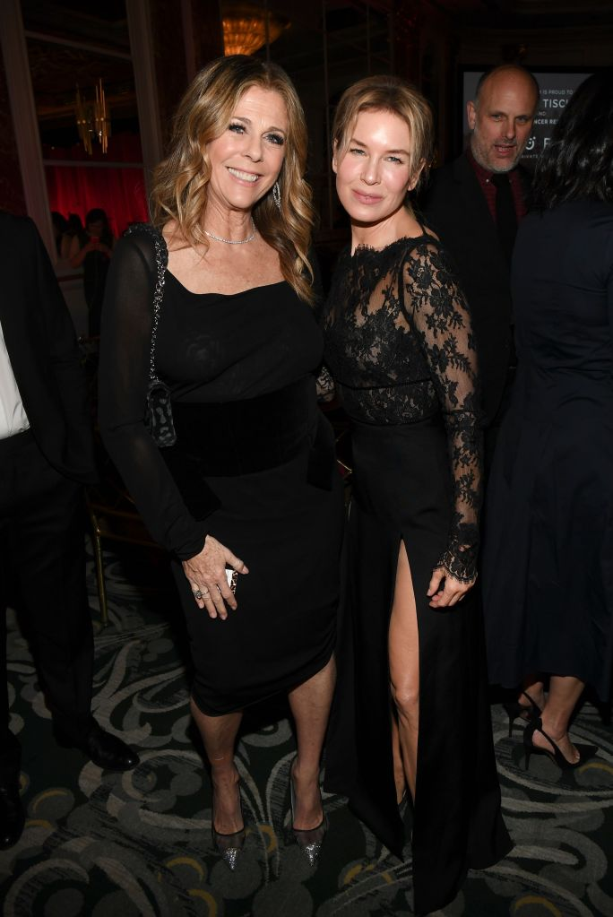 Rita Wilson and Renee ZellwegerThe Women's Cancer Research Fund hosts An Unforgettable Evening, Cocktails, Beverly Wilshire Hotel, Los Angeles, USA - 27 Feb 2020
