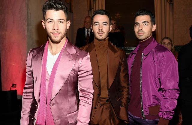 Nick Jonas, Kevin Jonas and Joe JonasThe Women's Cancer Research Fund hosts An Unforgettable Evening, Cocktails, Beverly Wilshire Hotel, Los Angeles, USA - 27 Feb 2020