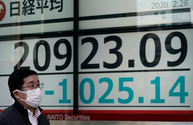 Global stock markets continued to fall on coronavirus fears Friday.