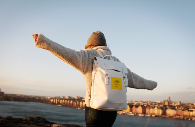 Visitors are encouraged to sign up to borrow design-laden backpacks to explore different regions in Sweden.