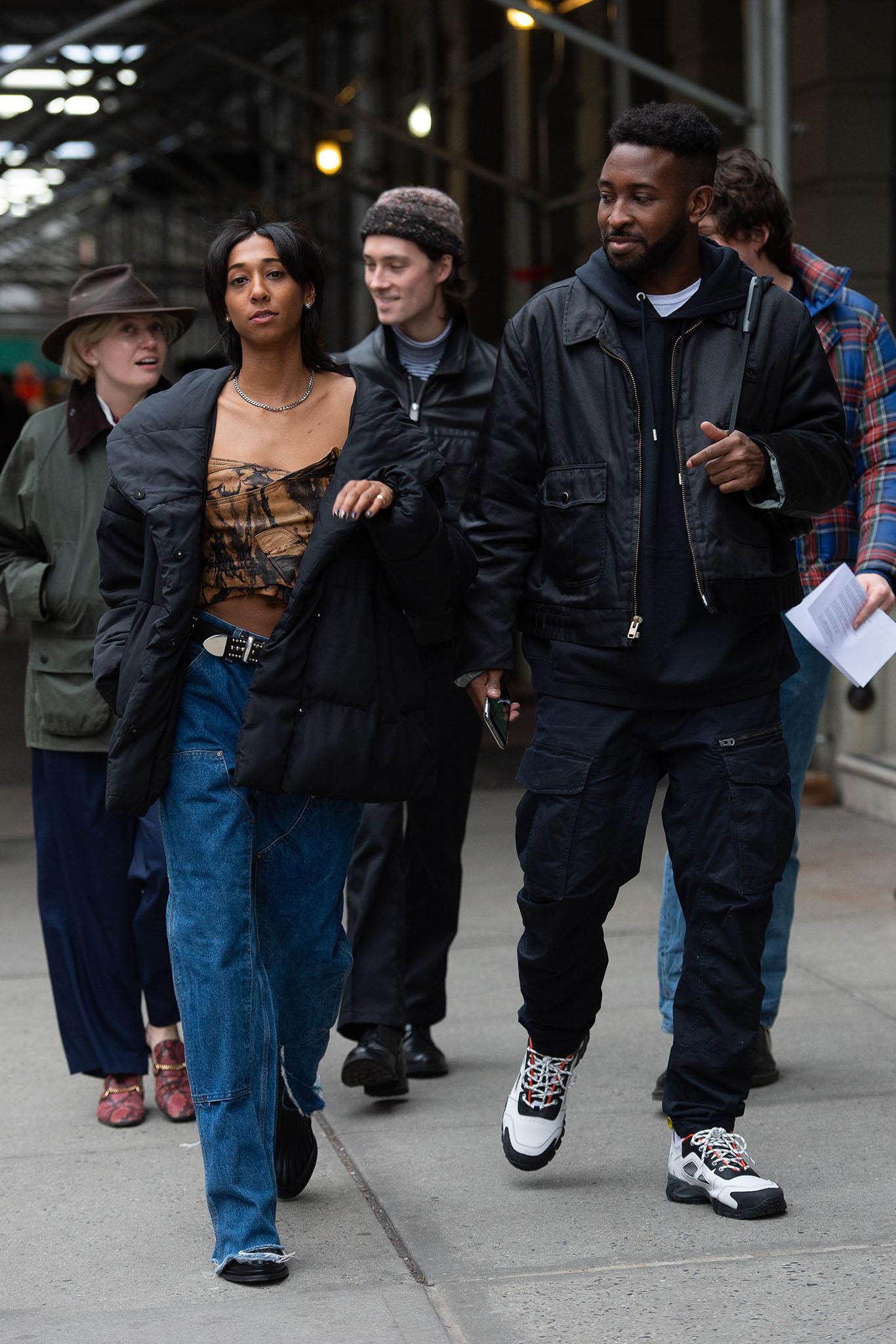 Streetstyle at New York Fashion Week Men's Fall 2020.