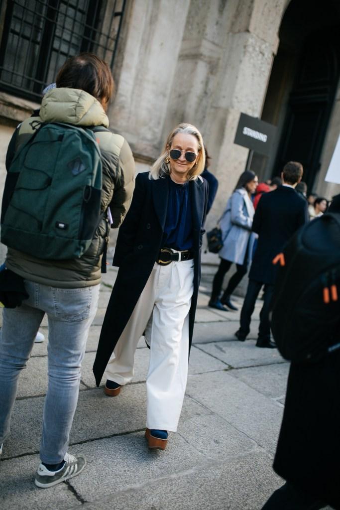 Street style at Milan Fashion Week Fall 2020