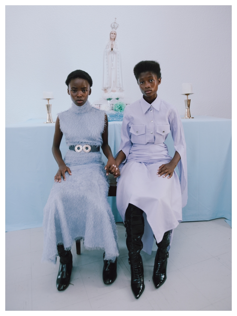 Looks from Thebe Magugu's fall 2020 collection.