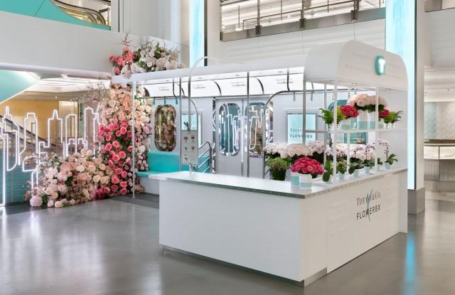 The Tiffany & Co. x Flowerbx collaboration.