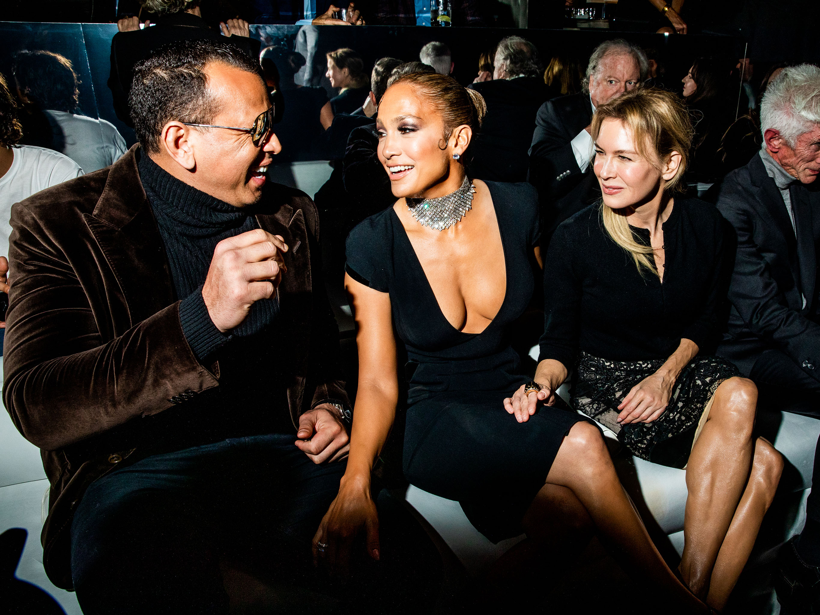 Alex Rodriguez, Jennifer Lopez, and Renée Zellweger
