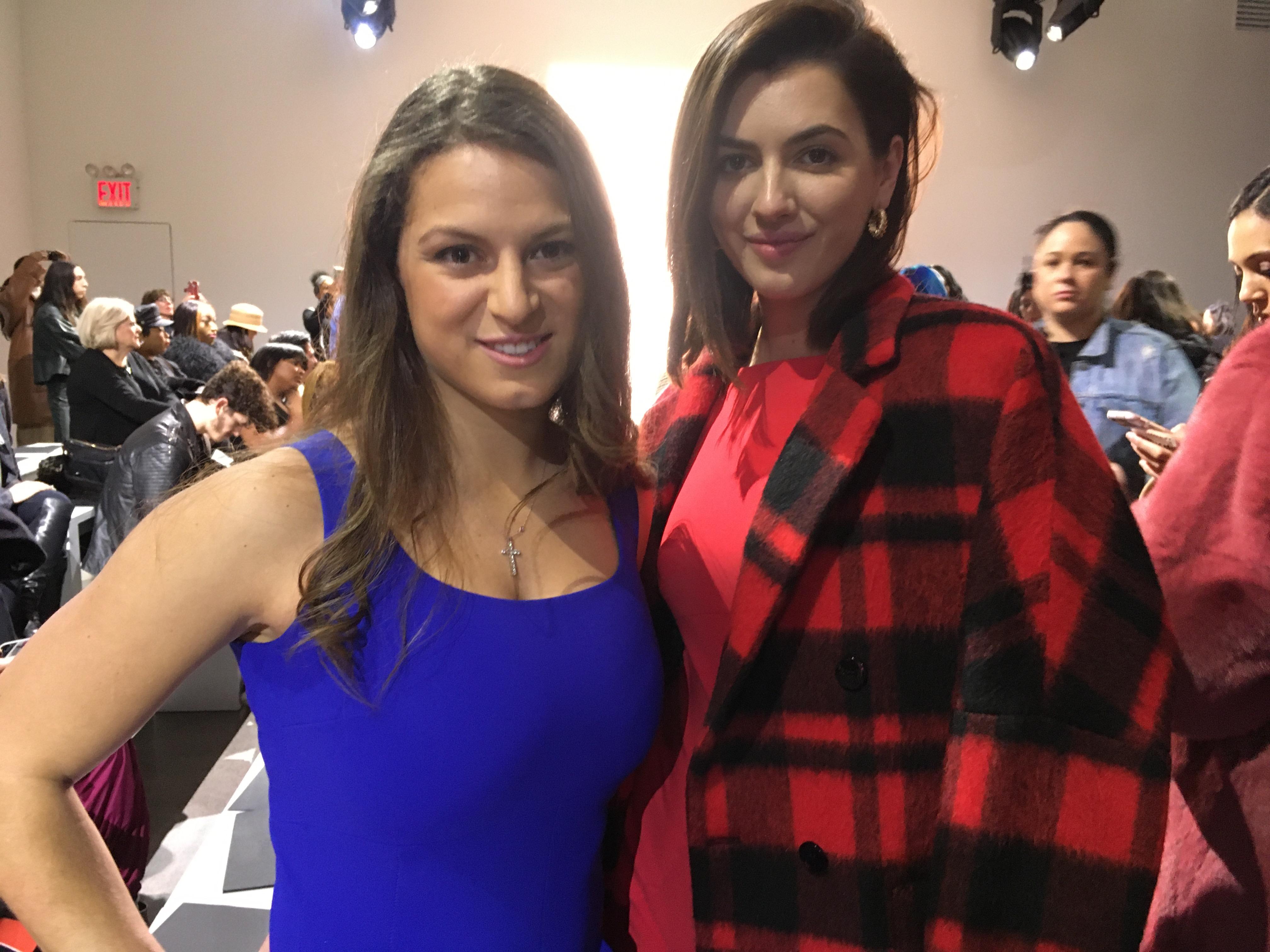 Cara Kennedy Cuomo and Kyra Kennedy at the Chiara Boni La Petite Robe show.