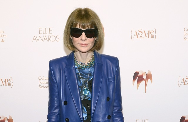 NEW YORK, NY - MARCH 14:  Anna Wintour attends the Ellie Awards 2019 at Brooklyn Steel on March 14, 2019 in New York City.  (Photo by Noam Galai/Getty Images for ASME)