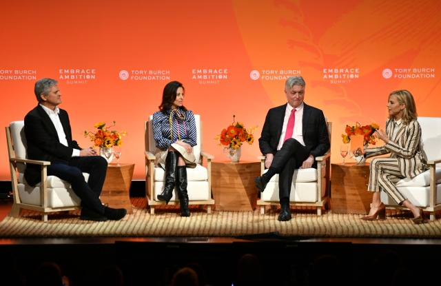 Steve Case, Dina Powell McCormick, Tom Montag and Tory Burch.