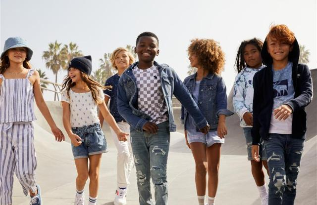 A branding photo from abercrombie kids.