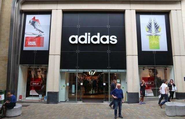 An Adidas store
