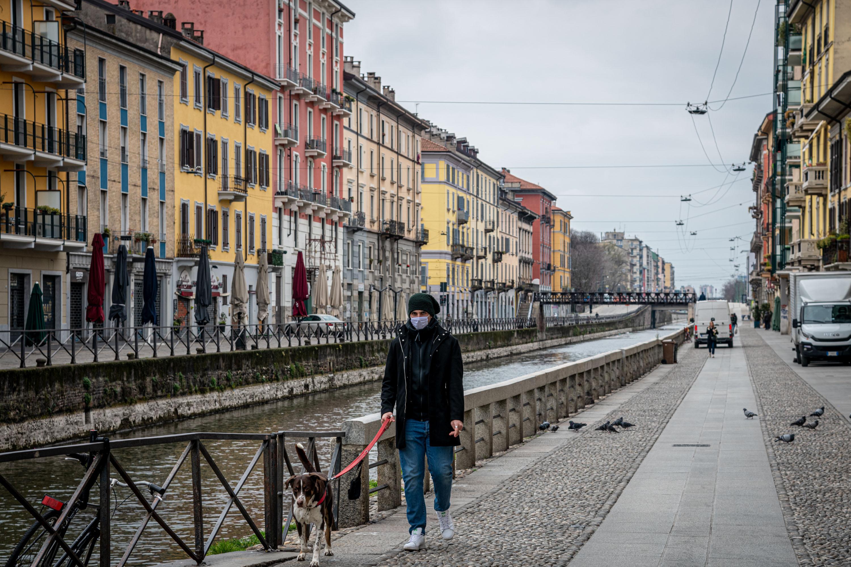 quiet street Milan, Italy coronavirus