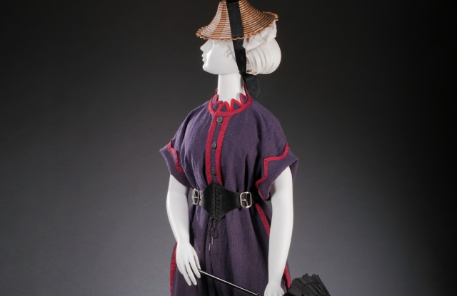 "An 1860s bathing ensemble from ""Sporting Fashion: Outdoor Girls 1800 to 1960,"" open May 19 to Aug. 1, 2020 at the Museum of the Fashion Institute of Design and Merchandising in Los Angeles."