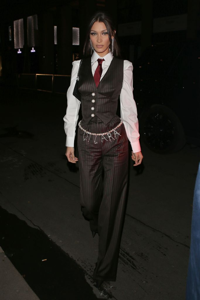 Bella HadidBella Hadid out and about, Paris Fashion Week, France - 29 Feb 2020Wearing Dilara Findikoglu