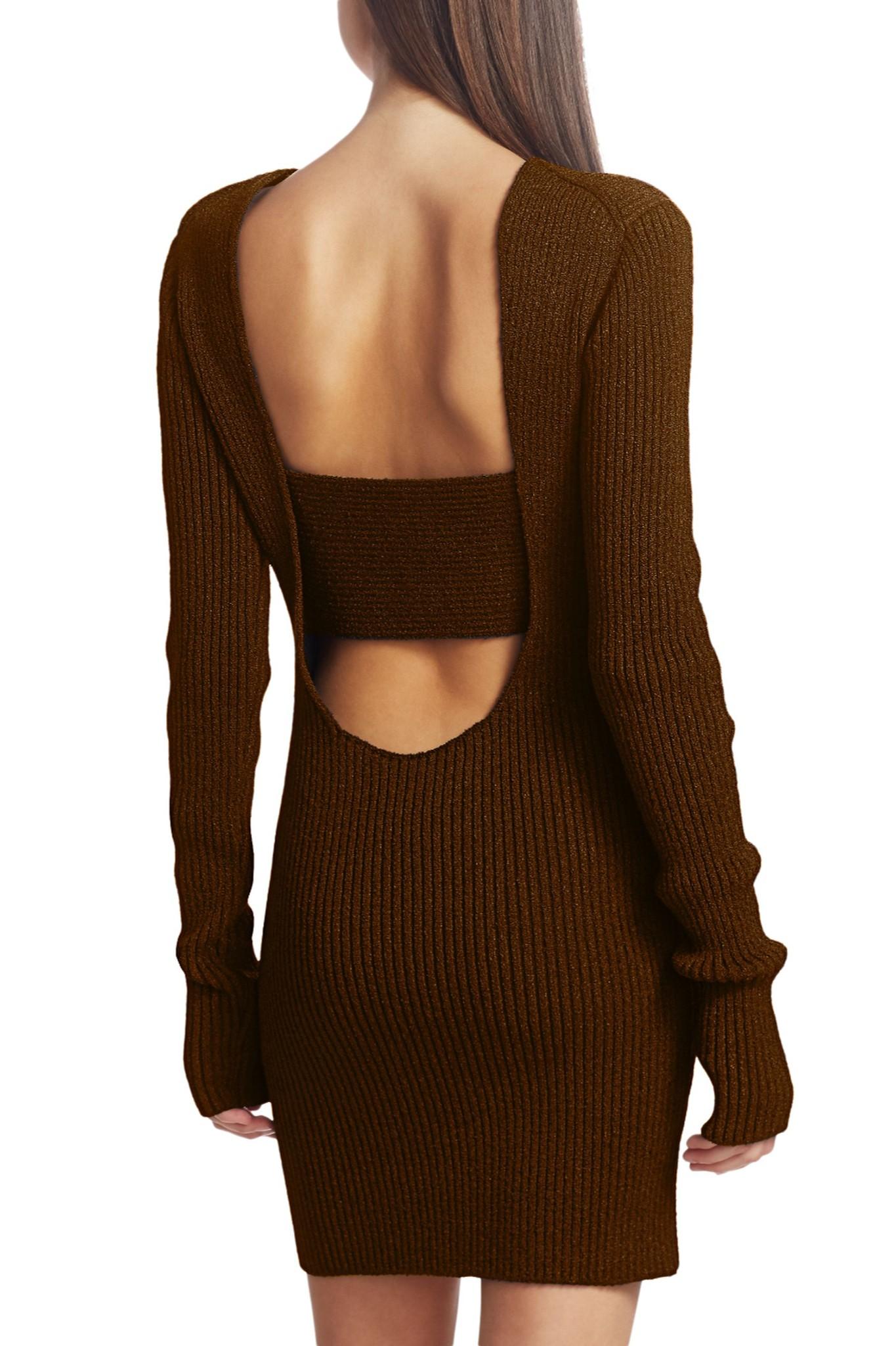 Bottega Veneta wrapped knit silk blend dress.