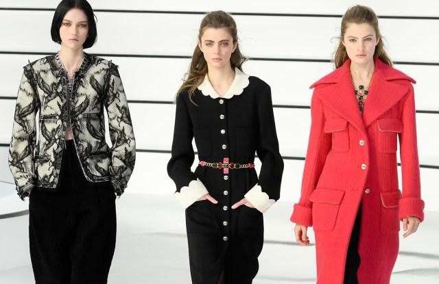 Models on the catwalk