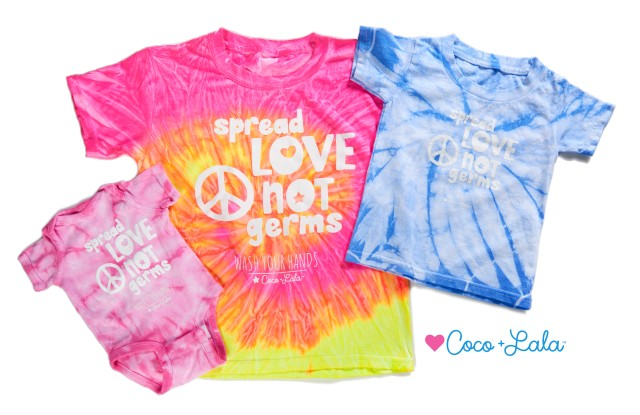 "Coco & Lala's ""Spread Love, Not Germs"" T-shirts"