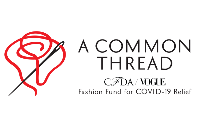 logo for cfda covid-19 fashion relief fund