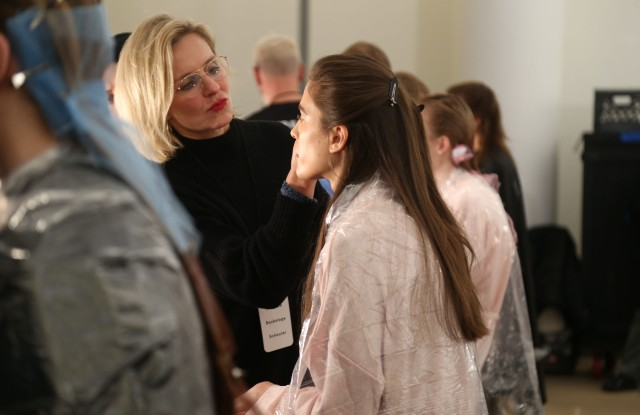 Back Stage at Proenza Schouler RTW Fall 2020, photographed on February 11, 2020.