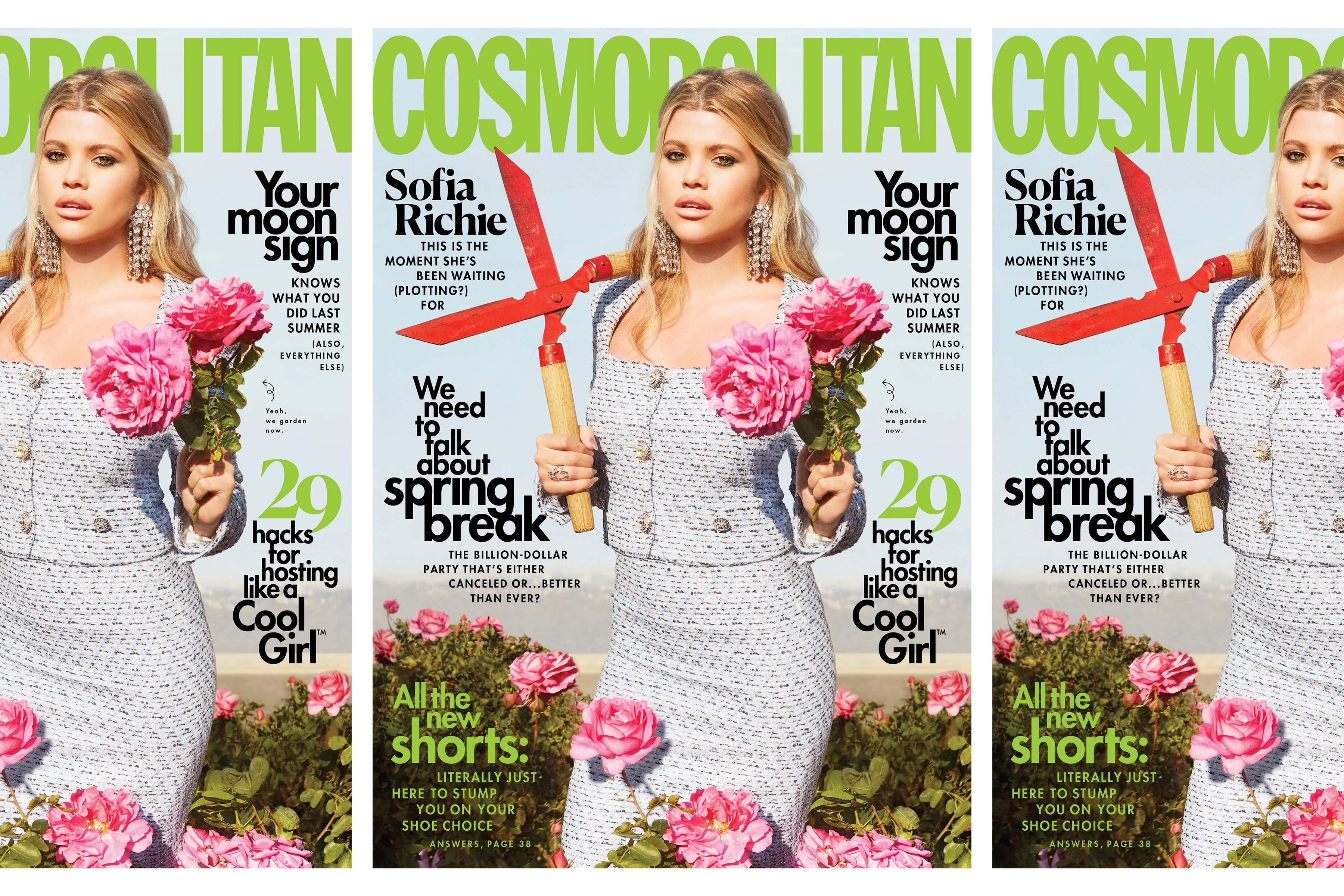 Sophia Richie on the cover of Cosmopolitan Magazine.
