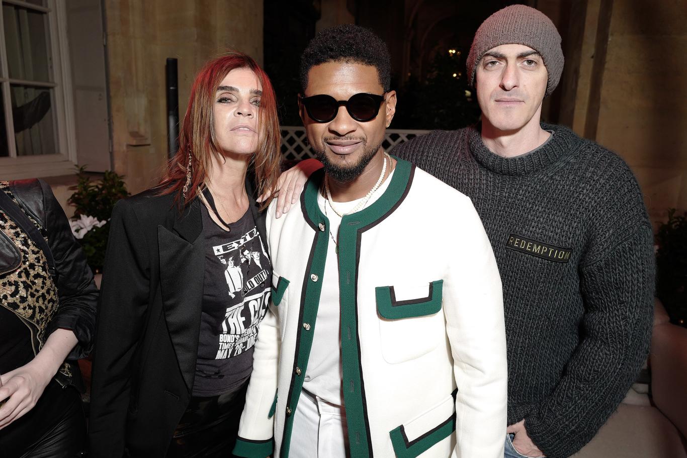 Carine Roitfeld, Usher and Gabriele Moratti