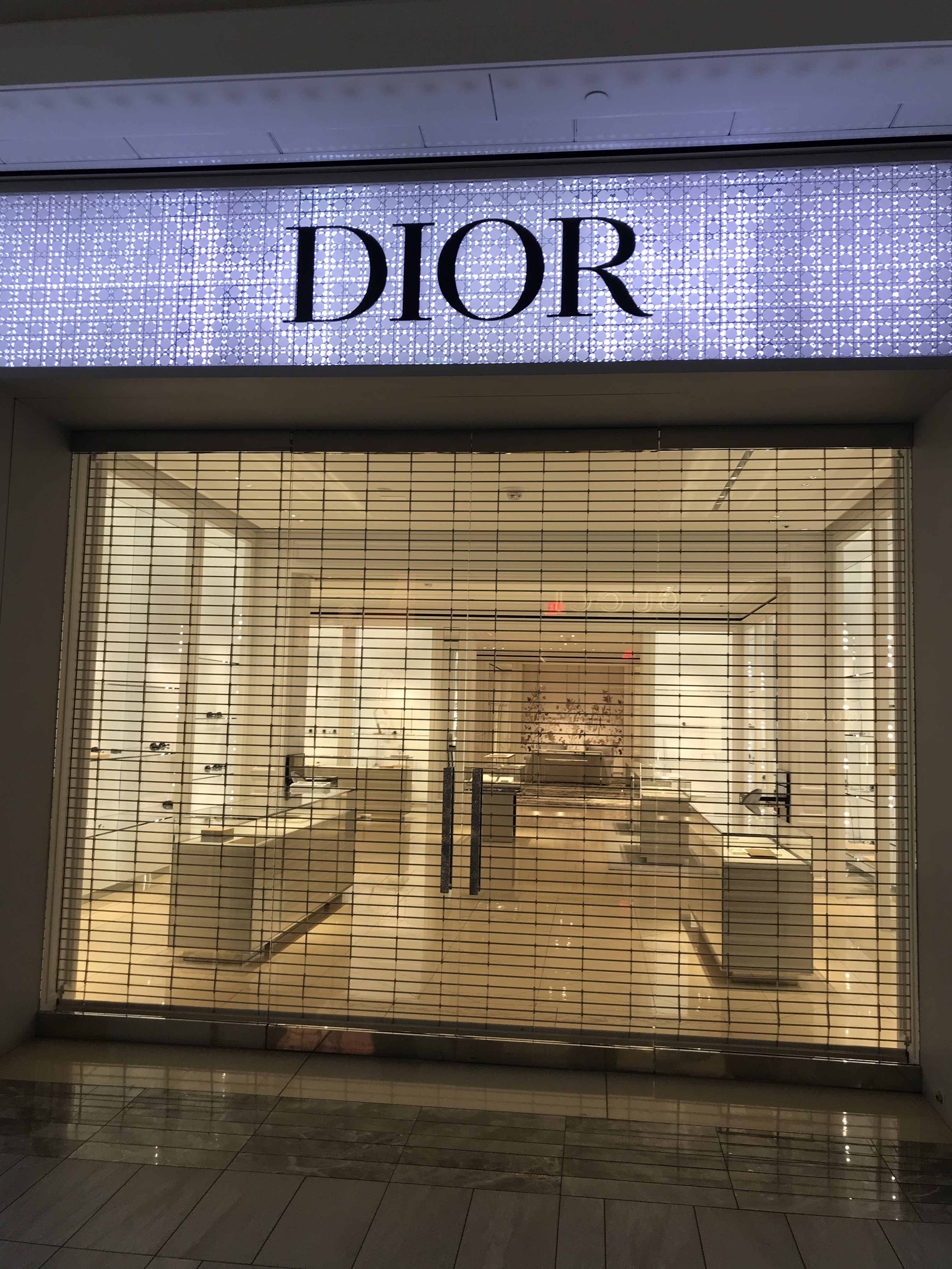 Dior has removed merchandise from the public's view in its Boston store.