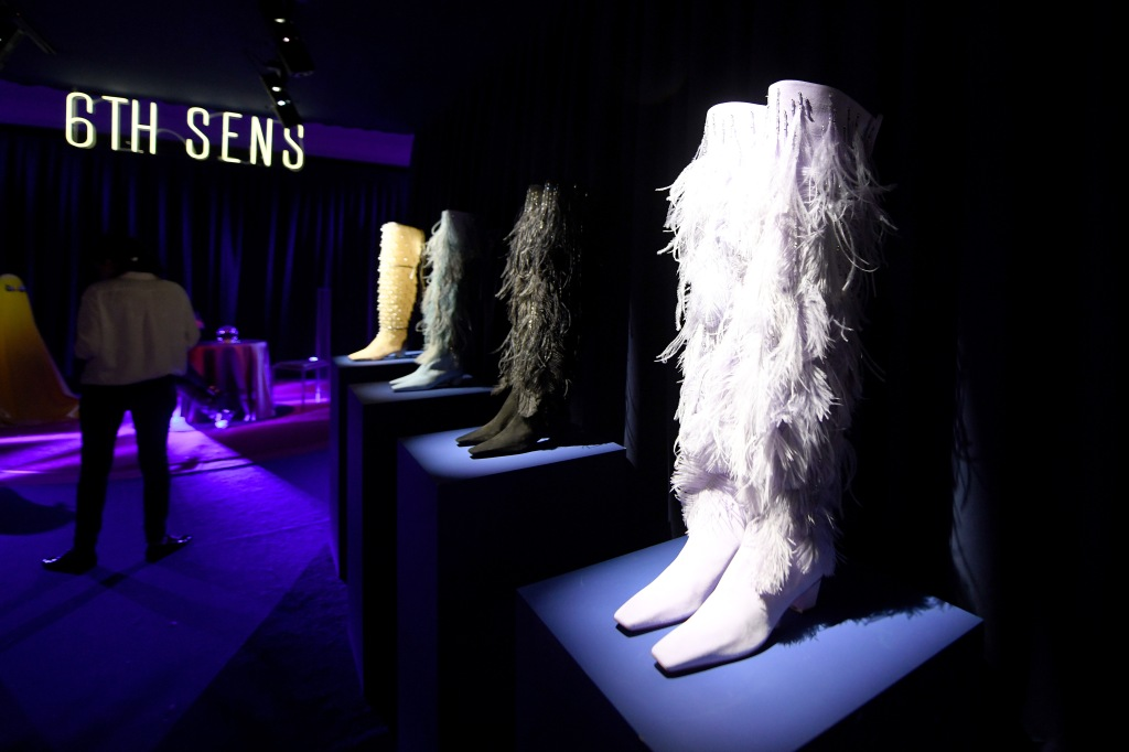 PARIS, FRANCE - FEBRUARY 27: General view during Sensorama Vivier - the Roger Vivier press day at Fondation Cino et Simone del Duca during Paris Fashion Week Womenswear Fall Winter 2021 on February 27, 2020 in Paris, France. (Photo by Anthony Ghnassia/Getty Images For Roger Vivier)