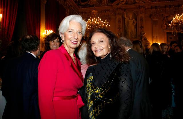 Christine Lagarde and Diane Von Fürstenberg