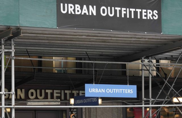 The closed Urban Outfitters store in New York City.