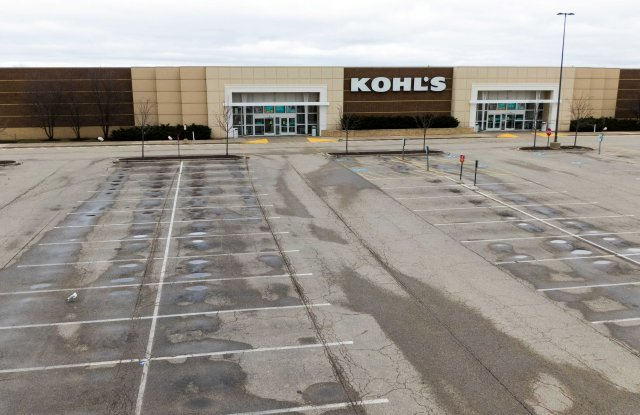 An aerial photo made with a drone shows the Kohl's department store at the now closed Gurnee Mills Mall in Gurnee, Illinois, USA, 20 March 2020. The mall owner, Simon Property Group has closed the mall after many stores reduced hours or closed completely due to the coronavirus SARS-CoV-2 which causes the Covid-19 disease.Gurnee Mills Mall closes due to Coronavirus Covid-19, USA - 20 Mar 2020