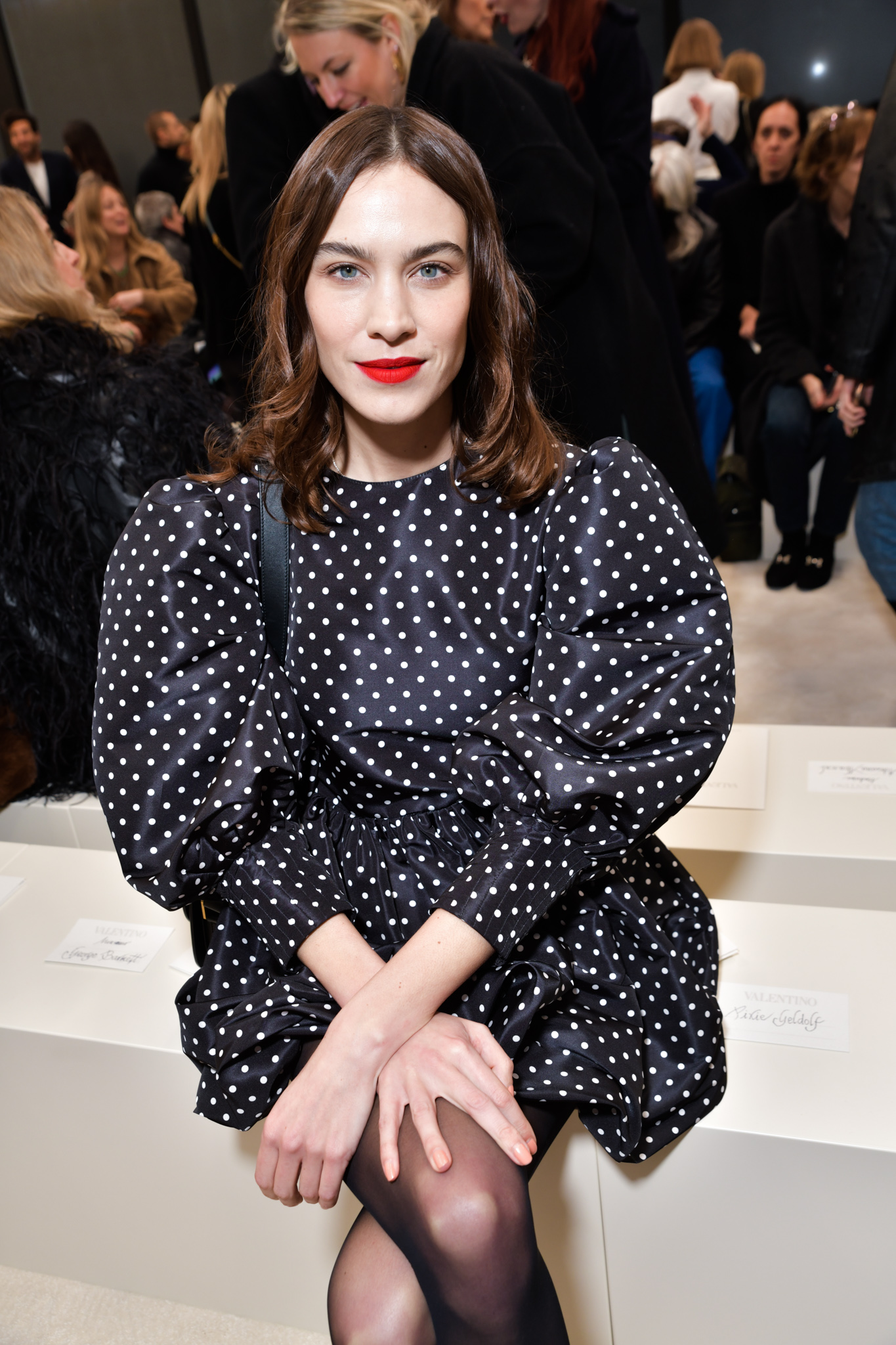 Alexa Chung in the front row