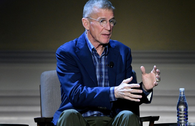 NEW YORK, NEW YORK - FEBRUARY 29: Stanley McChrystal speaks onstage during The Alchemy of Leadership panel at HISTORYTalks Leadership & Legacy presented by HISTORY at Carnegie Hall on February 29, 2020 in New York City. (Photo by Bryan Bedder/Getty Images for HISTORY)