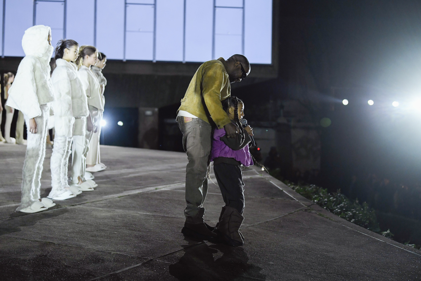 Kanye West and North West on the catwalk