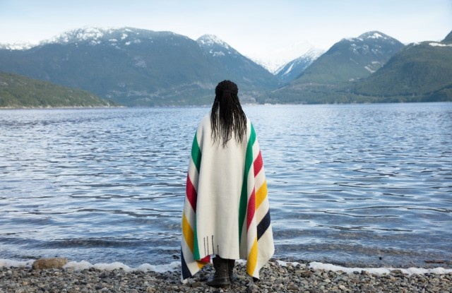 An image from the new Hudson's Bay campaign in Canada.