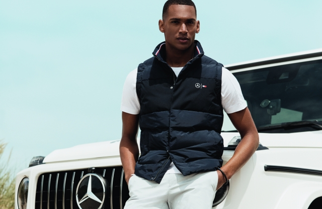 A look from the TommyXMercedes-Benz spring capsule.