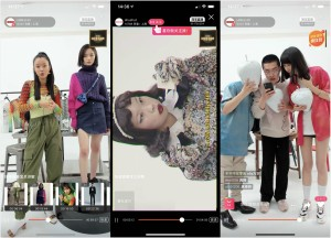 Screen shots of livestreaming from Private Policy, Shushu/Tong and 8on8 during Shanghai's online fashion week.
