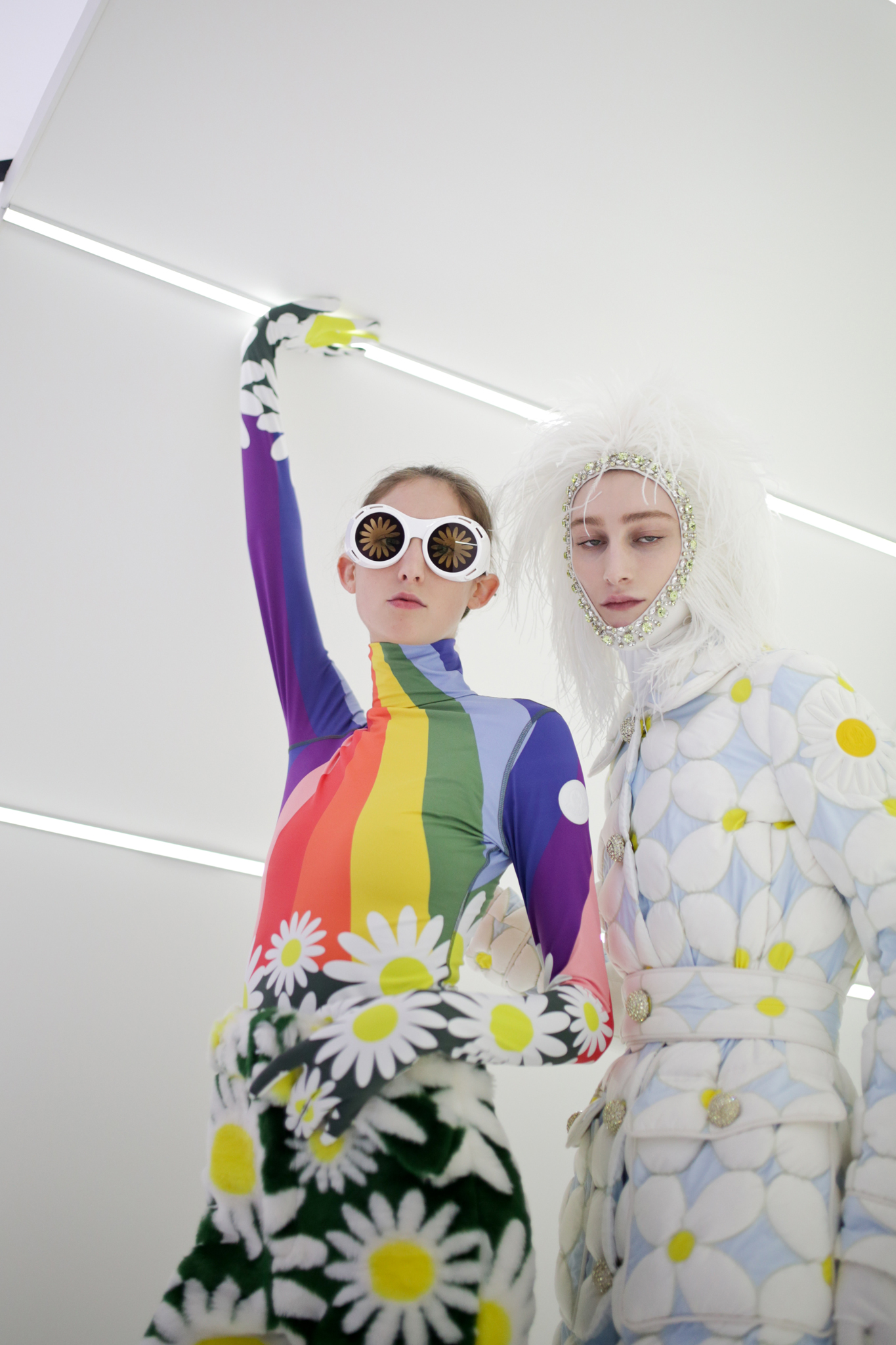 Backstage at Moncler Genius RTW Fall 2020