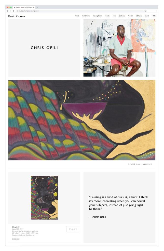 David Zwirner Online'sOn Painting: Art Basel Online,March 20-25, 2020. Courtesy David Zwirner