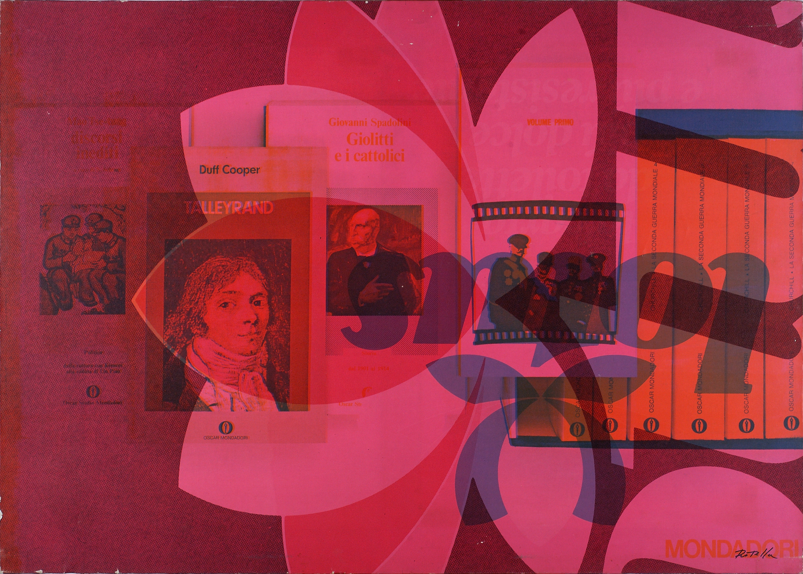 """""""Panorama Politico""""  by Mimmo Rotella (1974)."""