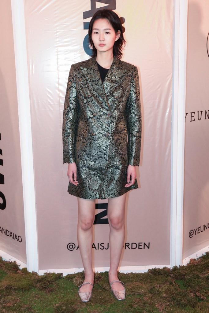 An Anaïs Jourden fall 2020 look at the HKFG showcase.