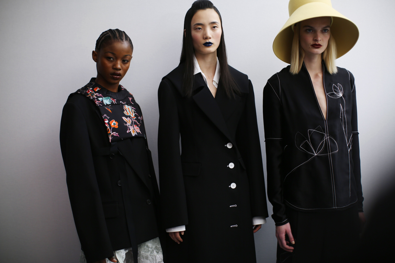 Models backstageNina Ricci show, Backstage, Fall Winter 2020, Paris Fashion Week, France - 28 Feb 2020