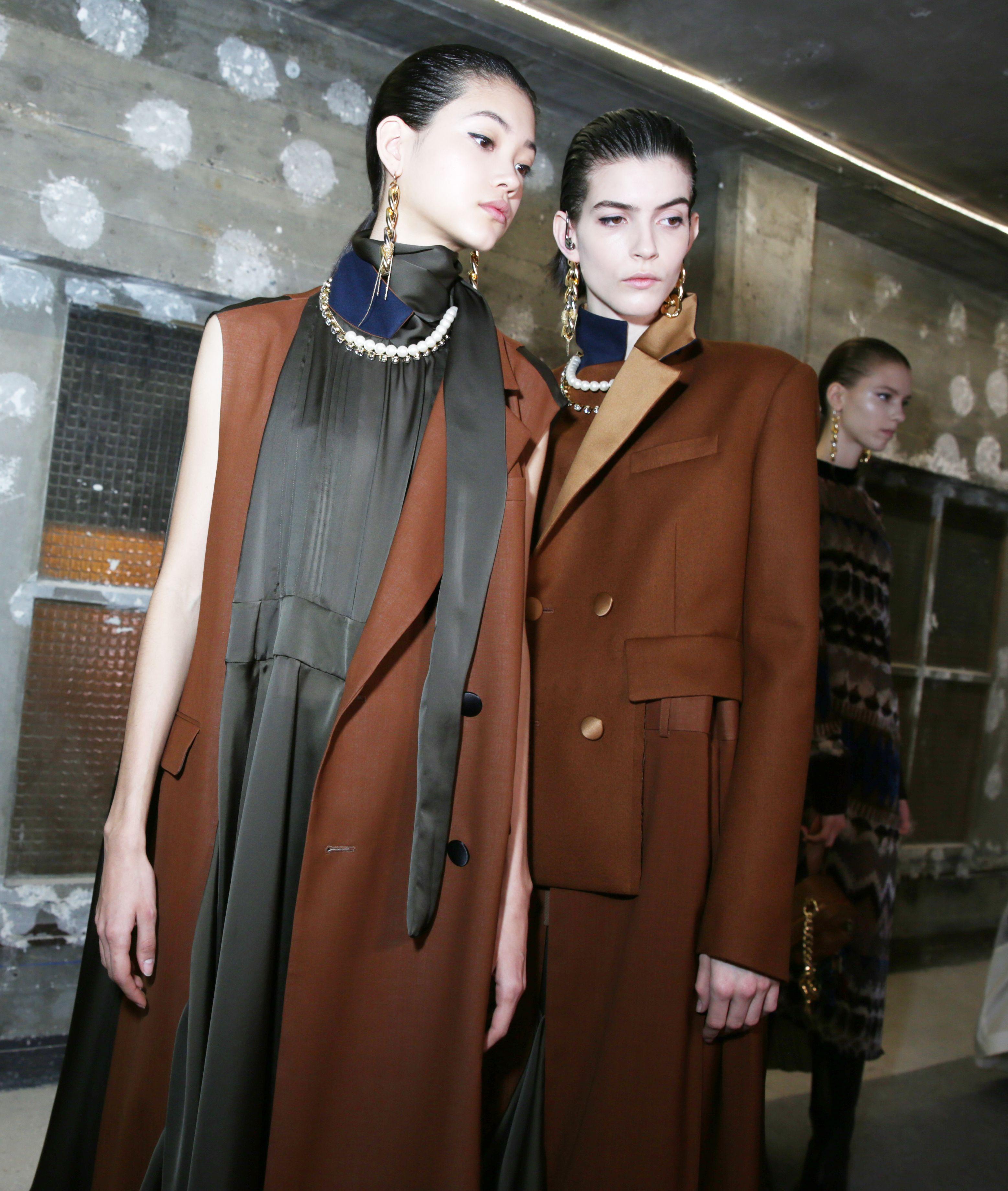 Models backstageSacai show, Backstage, Fall Winter 2020, Paris Fashion Week, France - 02 Mar 2020