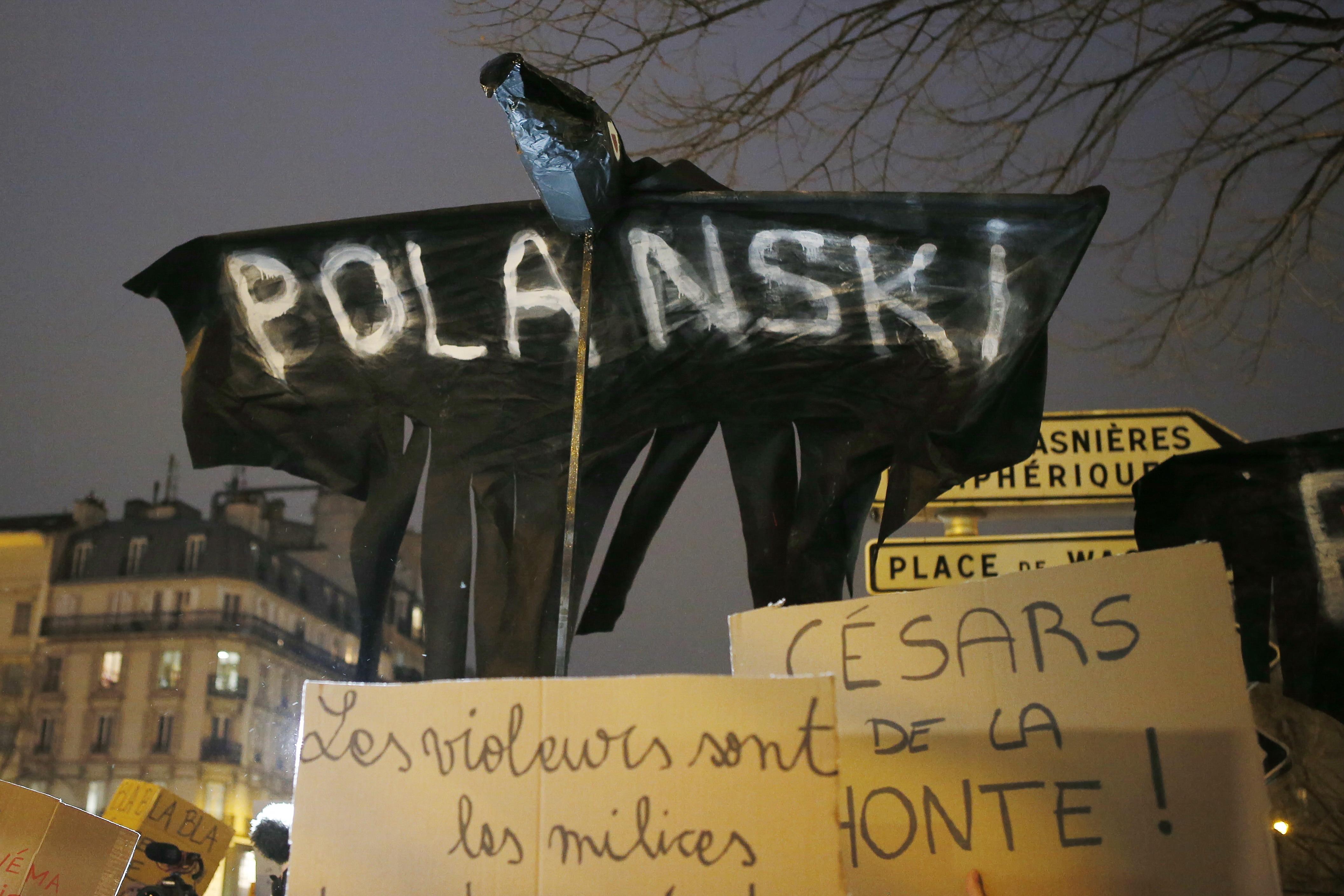 Feminist protest against Roman Polanski at the 2020 Cesars awards45th Cesar Awards, Protests, Paris, France - 28 Feb 2020