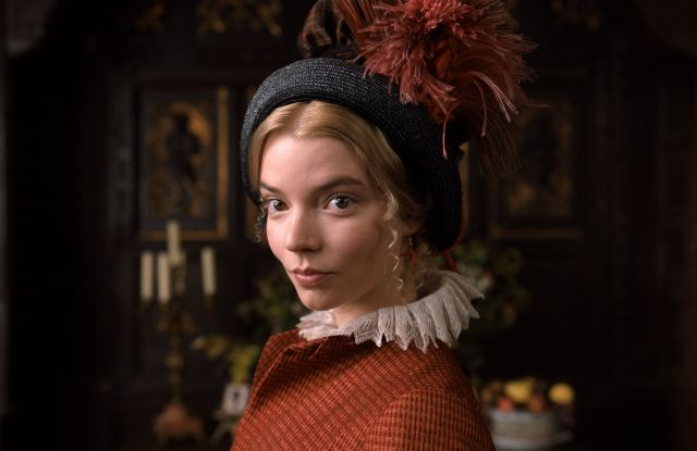 Editorial use only. No book cover usage.Mandatory Credit: Photo by Focus Features/Universal/Kobal/Shutterstock (10572038i)Anya Taylor-Joy as Emma WoodhouseEmma. Film - 2020In 1800s England, a well meaning but selfish young woman meddles in the love lives of her friends.